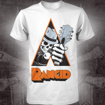 Rancid- Clockwork Orange on a white shirt (Sale price!)