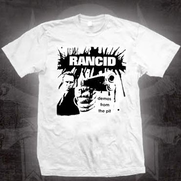 Rancid- Demos From The Pit on a white shirt (Ltd Ed Bootleg The Bootleggers Series) (Sale price!)