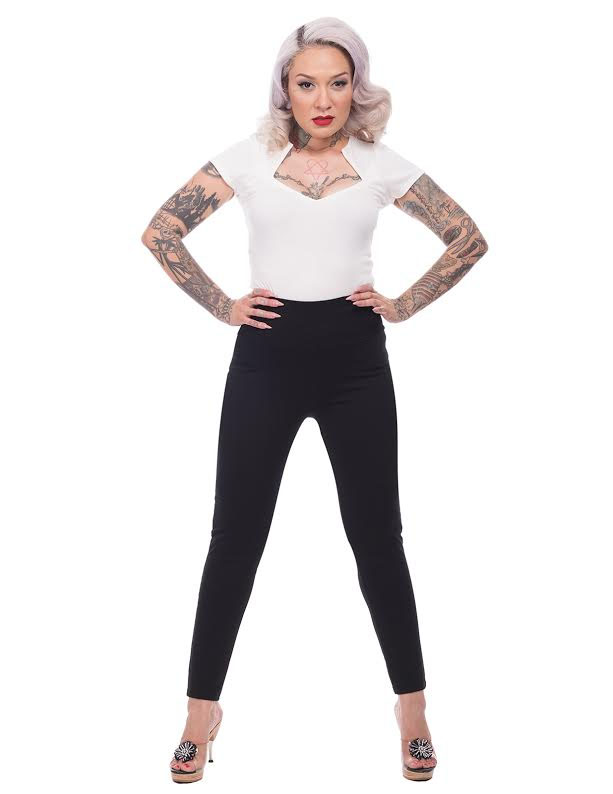 Audrey Cigarette Legging by Steady - in solid black - SALE