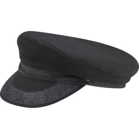 Greek Fisherman Wool Hat In BLACK by New York Hat Co.