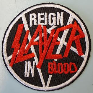Slayer- Reign In Blood embroidered Patch (ep606)