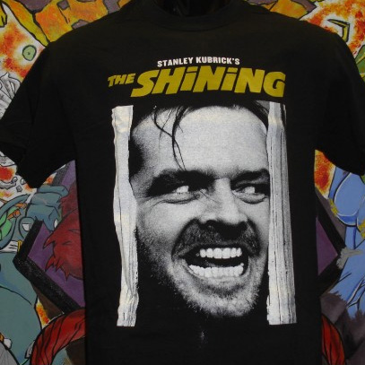 Shining- Here's Johnny on a black shirt