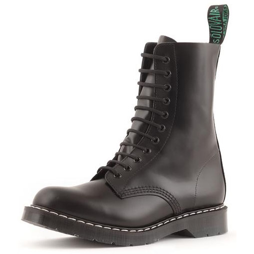 Derby 11 Eye Boot in BLACK by Solovair (Made In England!)
