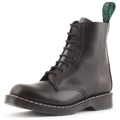 Derby 8 Eye Boot in BLACK by Solovair (Made In England!)