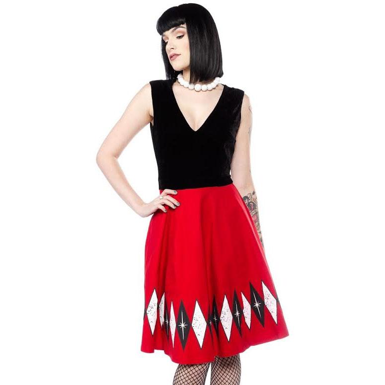 Hostess Retro Print Dress by Sourpuss - SALE