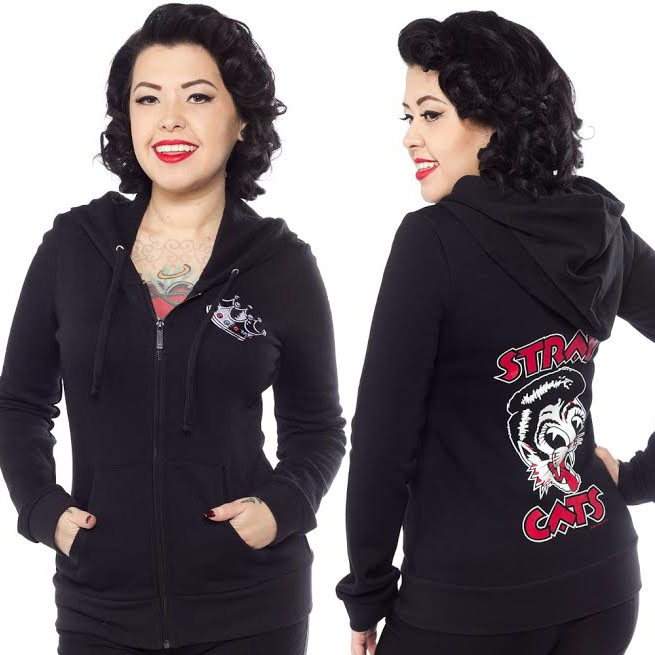 Stray Cats Girls Cut Hoodie from Sourpuss - SALE