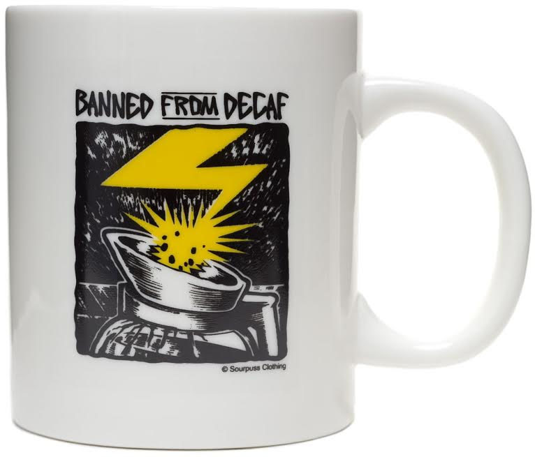 Banned From Decaf (Bad Brains) Coffee Mug from Sourpuss