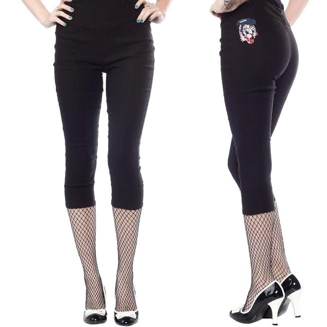 Stray Cats Peddle Pusher Capris by Sourpuss - SALE
