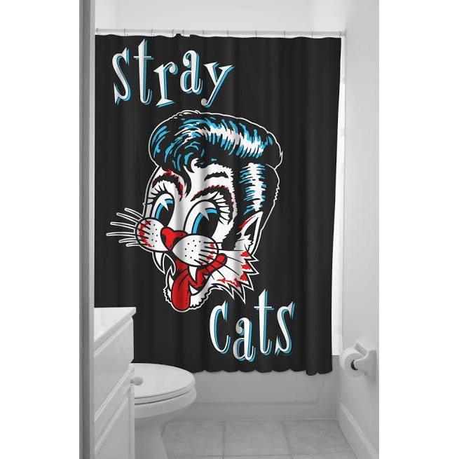 Sourpuss Stray Cats Shower Curtain - SALE