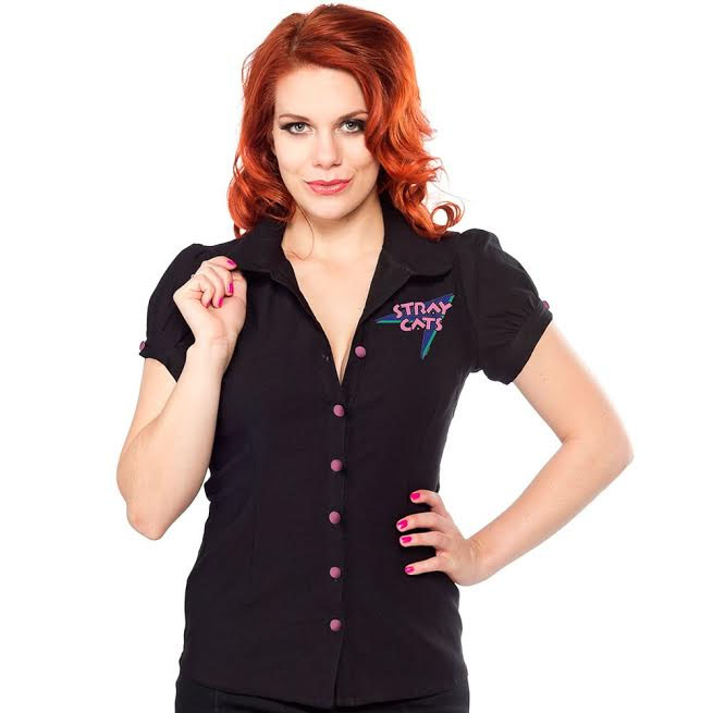 Stray Cats Lolita Diner Top by Sourpuss - SALE sz S only - last one