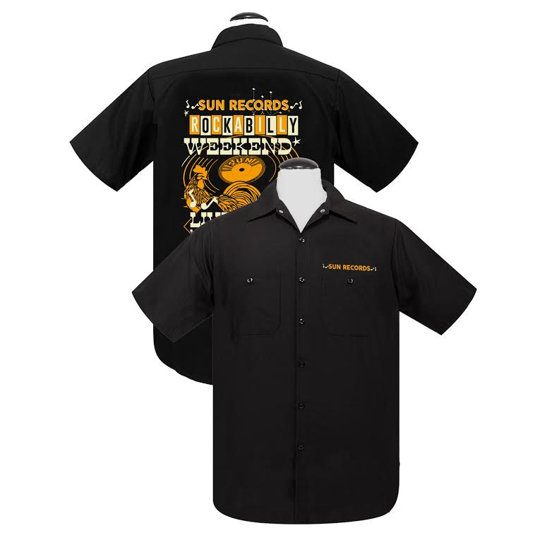 Sun Records- Weekender short sleeve Work Shirt by Steady Clothing