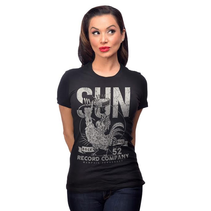 Sun Records- Rock N Roll '52 Women's Tee from Steady Clothing - SALE sz M only