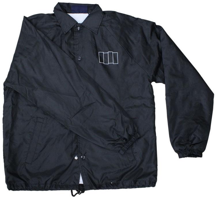Black Flag- Bars Embroidered on a black nylon jacket