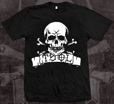 TSOL- Skull on front, True Sounds Of Liberty on back on a black shirt (Sale price!)