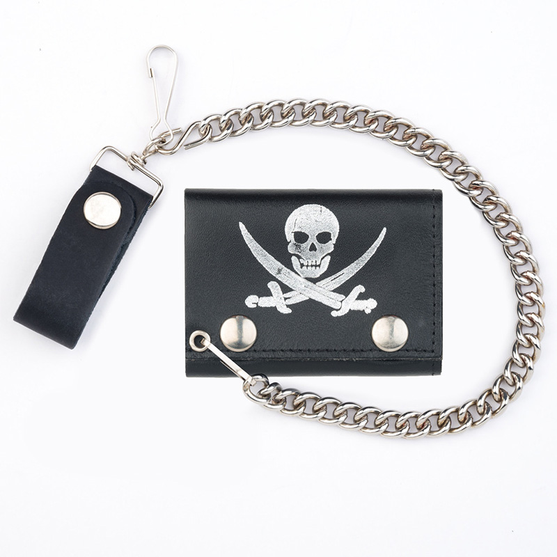 Pirate Skull wallet (comes with chain!)