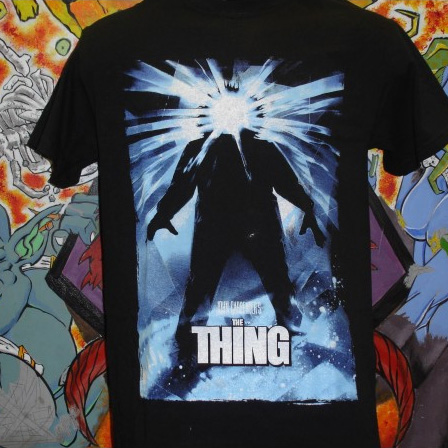 The Thing- Movie Poster on a black shirt
