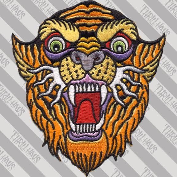 Tiger Flash Embroidered Patch by Thrillhaus (ep589)