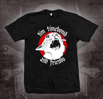 Tim Timebomb- Cat on a black shirt (Sale price!)