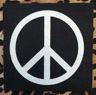 Peace Sign cloth patch (cp156)