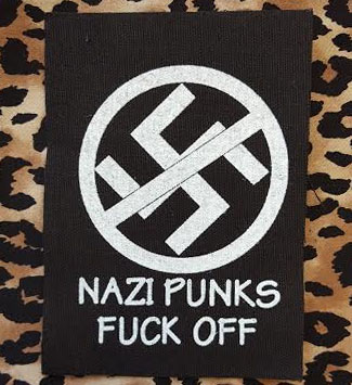Nazi Punks Fuck Off cloth patch (cp99)