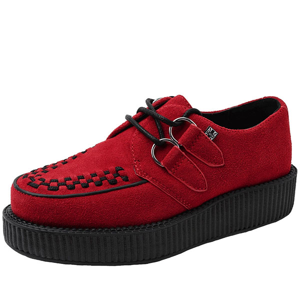 Red Suede Lo Sole Viva Creeper by Tred Air UK