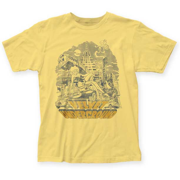 Velvet Underground- NYC on a banana ringspun cotton shirt