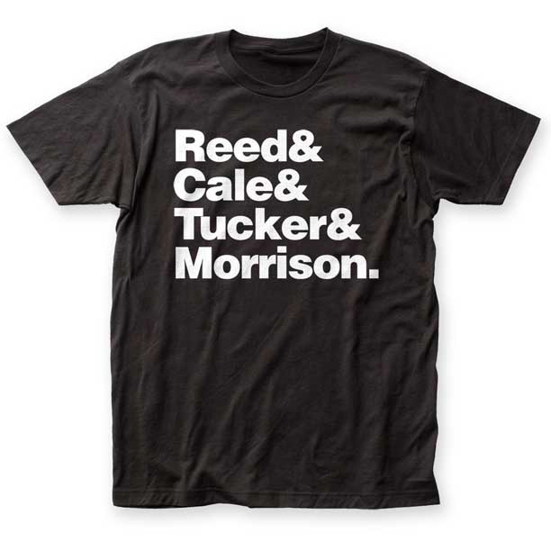 Velvet Underground- Names on a black ringspun cotton shirt (Sale price!)
