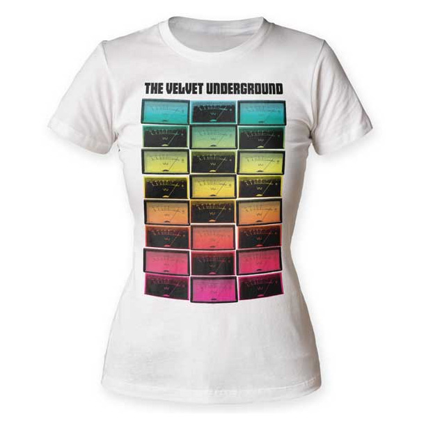 Velvet Underground- Meters on a white girls fitted shirt (Sale price!)
