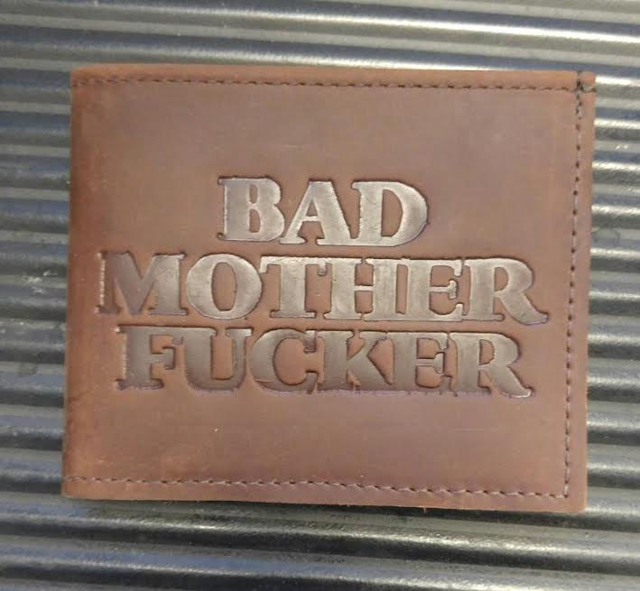 Bad Mother Fucker Bi-Fold leather wallet by Switchblade Stiletto