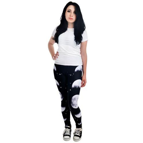 Phases of the Moon - Addicted Leggings by Too Fast Clothing/Rat Baby - SALE sz L only