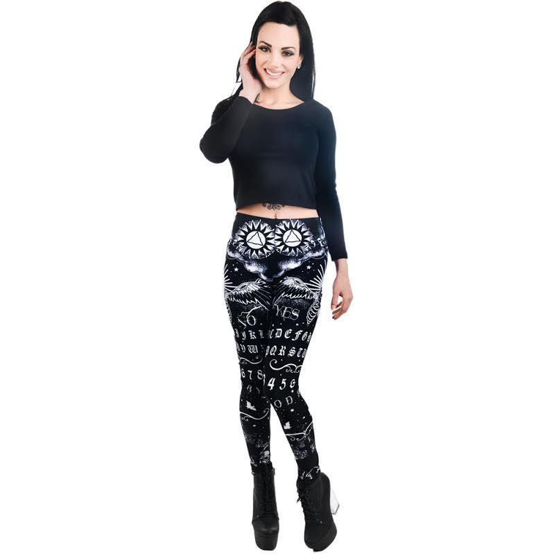 Spirit Board Ouija Lexy Leggings by Too Fast Clothing - SALE