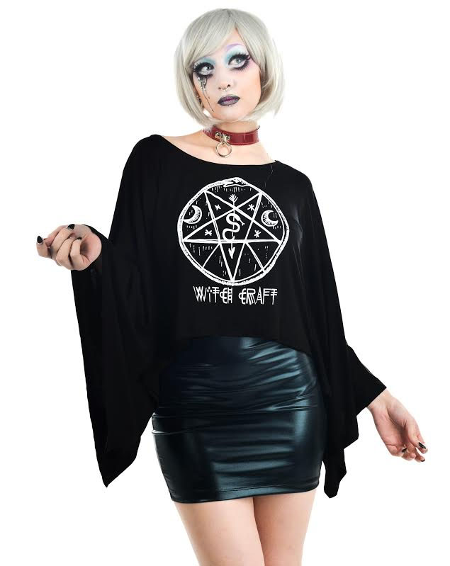 Coven Cape Top by Rat Baby/Too Fast Clothing - Witch Craft - Sale sz M & XL only