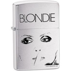 Blondie- Eyes on a genuine Zippo brand lighter
