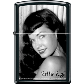 Bettie Page- Beautiful on a genuine Zippo brand lighter