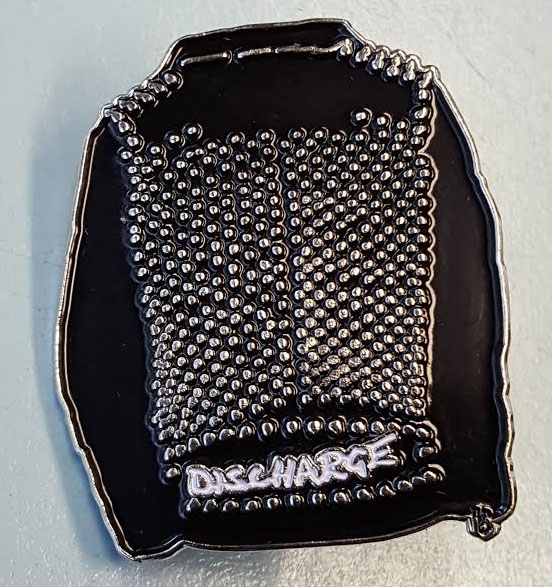 Discharge- Studded Jacket enamel pin (MP10)