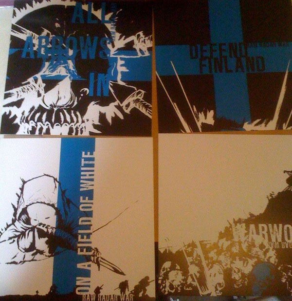 "Raw Radar War- Defend Finland 7"" (Sale price!)"