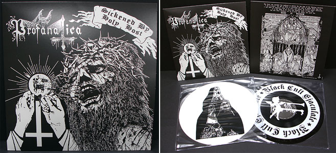 Profanatica- Sickened By The Holy Host 2xLP (Etched Vinyl) (Sale price!)