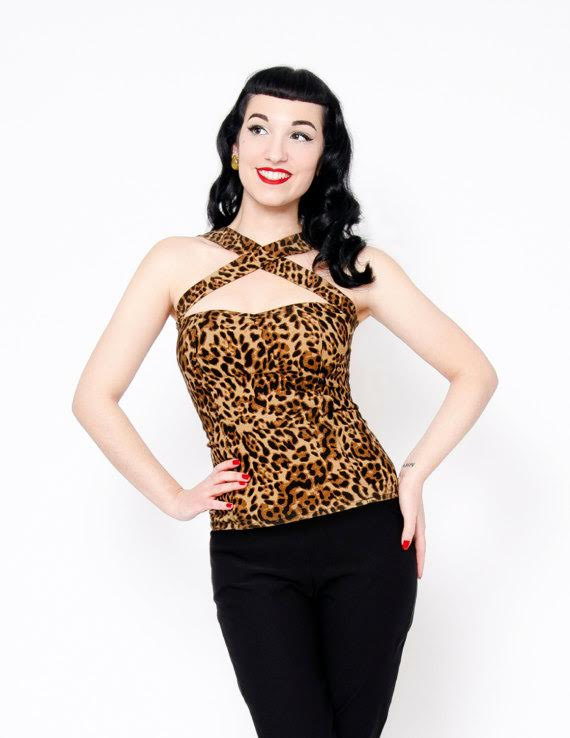 Leopard Vavavoom Halter by Putre-Fashion