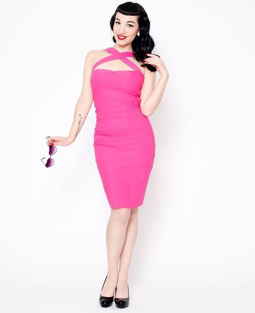 Pink Vavavoom Pencil Dress by Putre-Fashion - SALE