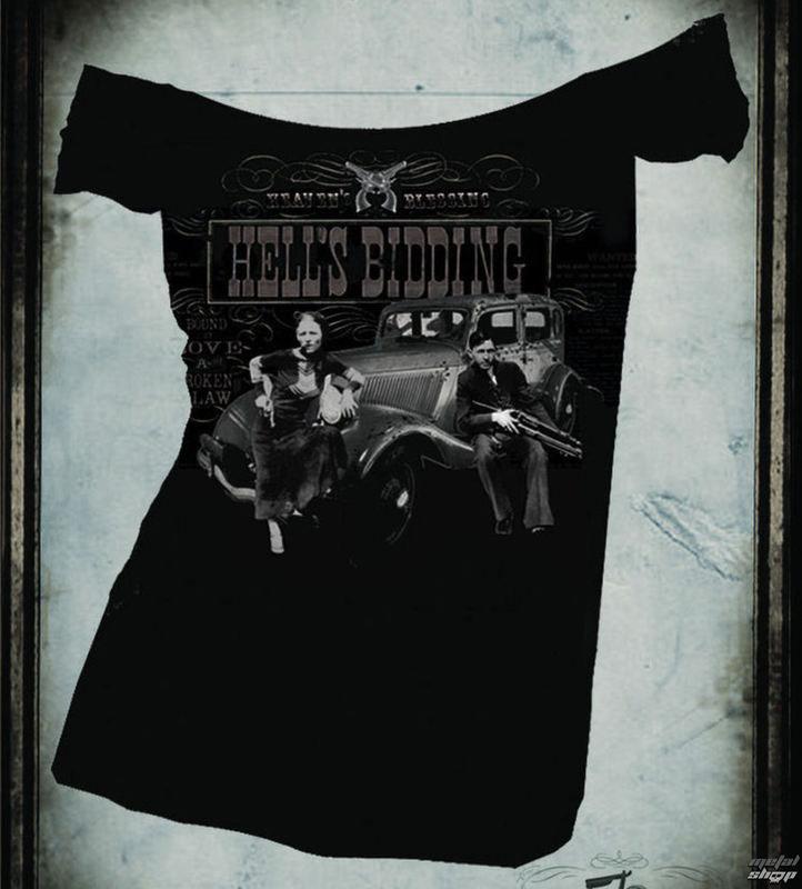 Hells Bidding Girls Off the Shoulder Shirt by Se7en Deadly - SALE sz S & 2X only