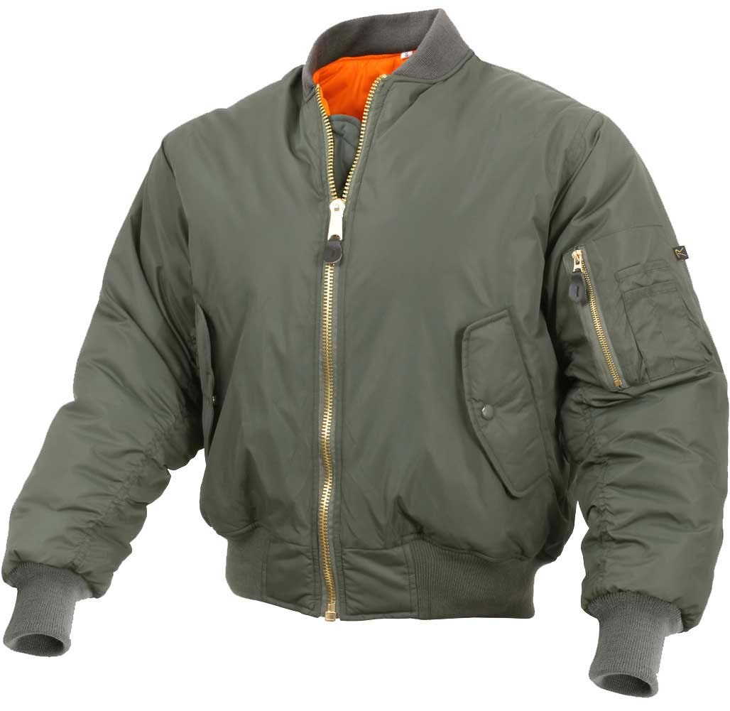 MA-1 Enhanced Flight Jacket by Rothco- SAGE GREEN (Higher Quality)