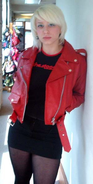 Leather Motorcycle Jacket Womens