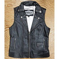 Derringer Lambskin Studded Womens Motorcycle Vest