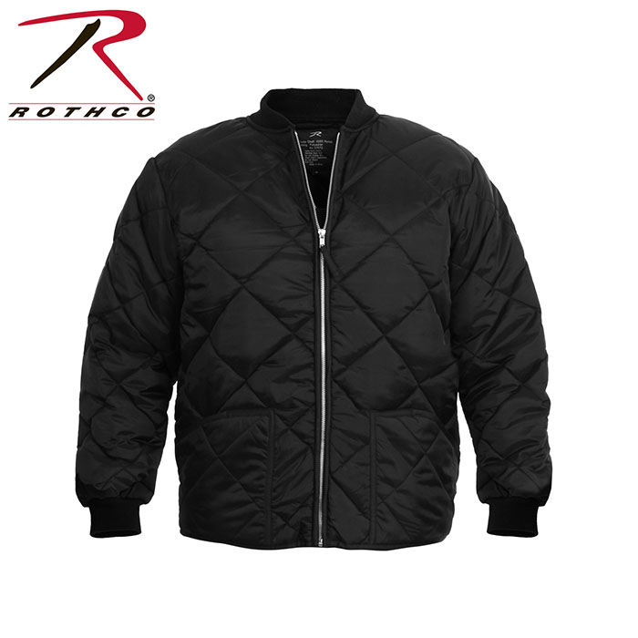 Diamond Quilted Flight Jacket by Rothco- BLACK
