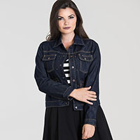 Indiana Indigo Denim Jacket by Hell Bunny