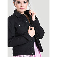 Indiana Black Denim Jacket by Hell Bunny - SALE