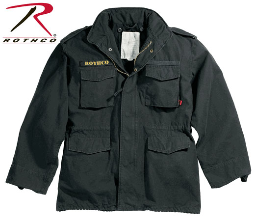 M-65 Field Jacket by Rothco- BLACK