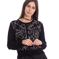 Spider Wed Cardigan by Banned Apparel