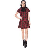 Smash It Up Mock Turtleneck Tartan Dress by Banned Apparel