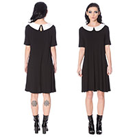 Mrs Not Nice Collar Dress by Banned Apparel